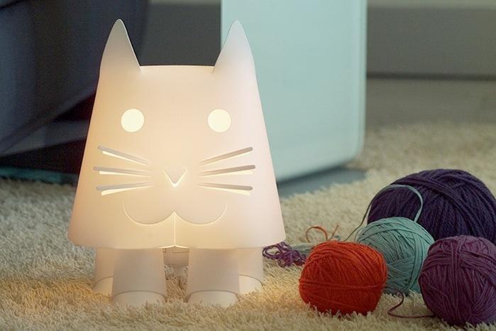 кошки интерьер светильник