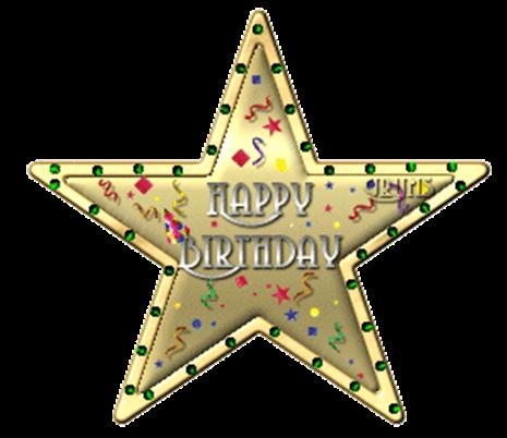 Картинка, открытки с днем рождения со звездой
