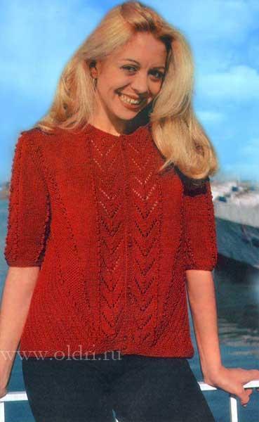 вязаная красная кофта для женщин спицами обсуждение на Liveinternet