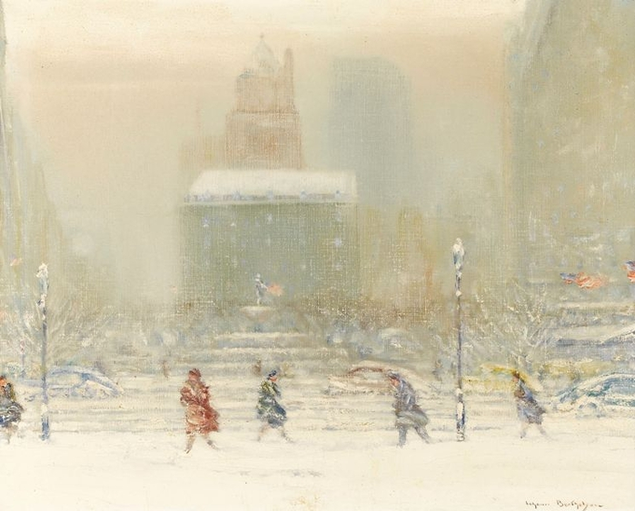 The Plaza Hotel In Winter (700x563, 223Kb)