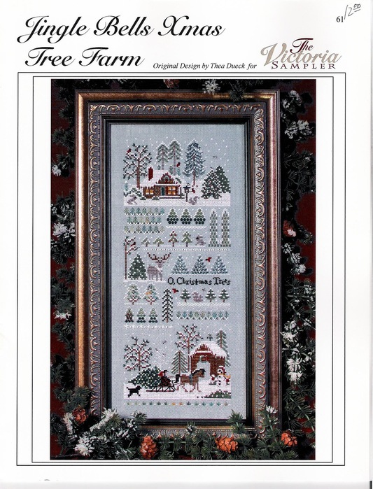 the VICTORIA sampler JINGLE BELLS XMAS TREE FARM 61 (533x700, 152Kb)