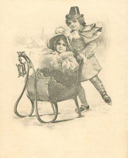 Старинные открытки черно-белые