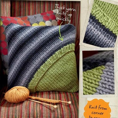 наволочка для подушки вязание спицами от угла обсуждение на