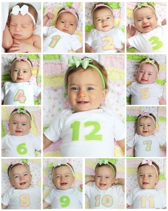 фото детей до года по месяцам
