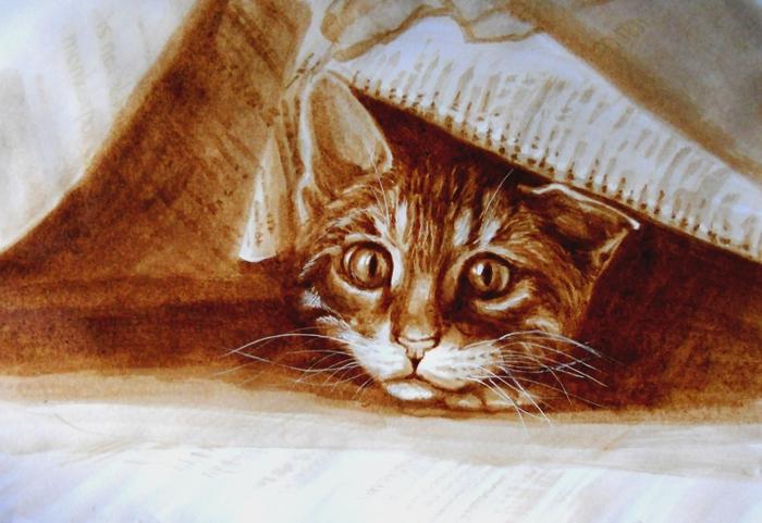 Ксения Доброчинская картины кофе