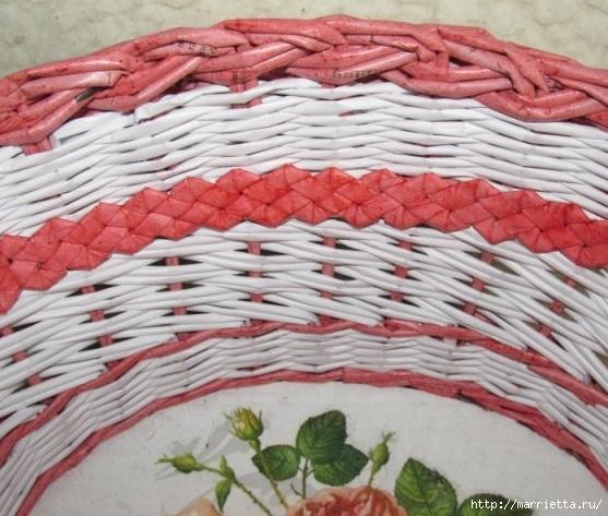 Плетение из газет. Мастер-класс и примеры применения фигурной косички (2) (557x473, 189Kb)