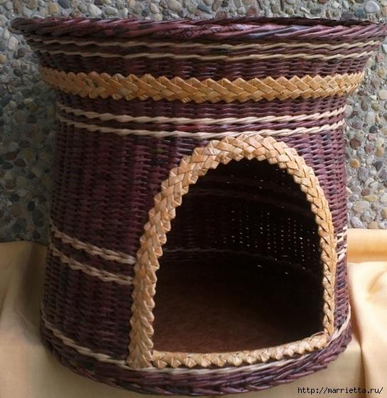 Плетение из газет. Мастер-класс и примеры применения фигурной косички (8) (545x560, 221Kb)