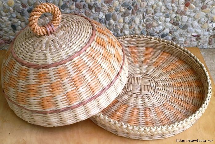 Плетение из газет. Мастер-класс и примеры применения фигурной косички (14) (700x469, 332Kb)