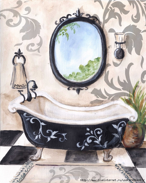 BlackDamask_Bath (560x700, 350Kb)