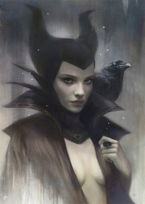 Tom-Bagshaw-priestess-witch-witch-with-raven (498x700, 182Kb)