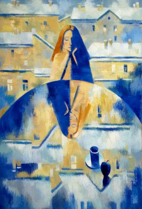 картины Маргариты Чигиной с чашкой кофе