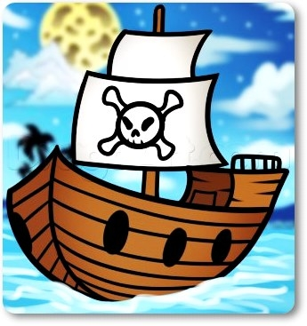 корабль для детей картинка