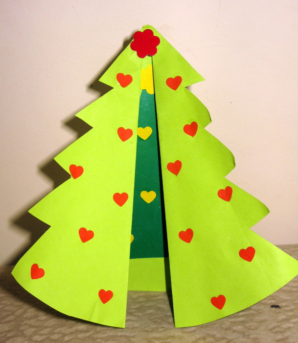 Надписью прости, елка из бумаги открытка своими