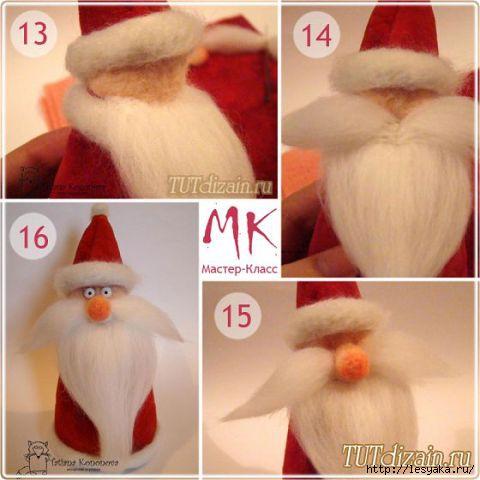 Как сделать костюм Деда Мороза (1-й вариант)
