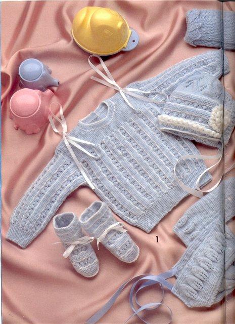 вязание спицами детские вещи для новорожденных самое интересное в
