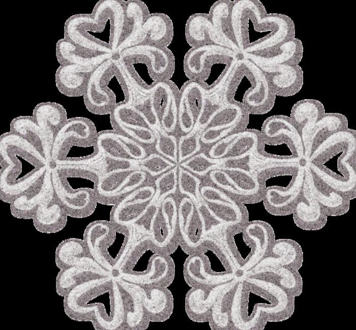 Картинка белые снежинки