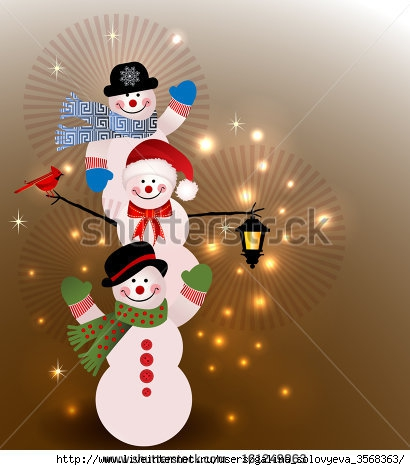 stock-vector-three-snowman-christmas-night-lantern-layered-161249063 (410x470, 106Kb)