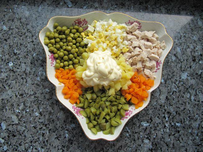оливье рецепт с колбасой с фото