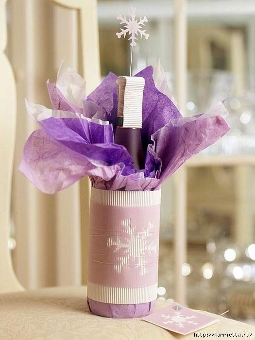новогодняя упаковка и украшение бутылок (4) (525x700, 215Kb)