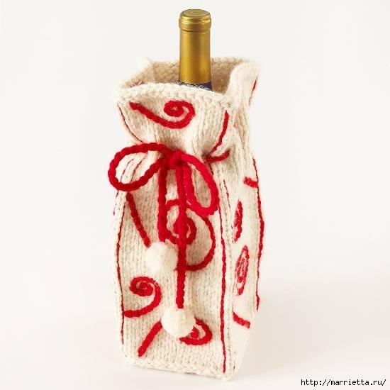 новогодняя упаковка и украшение бутылок (8) (550x550, 92Kb)