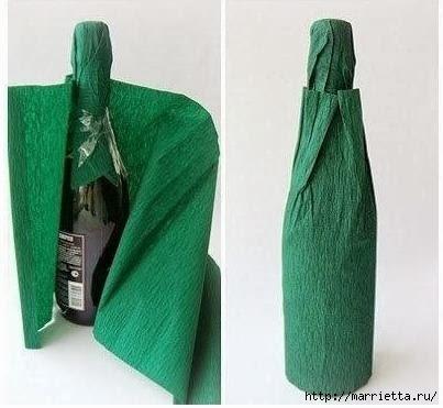 новогодняя упаковка и украшение бутылок (13) (403x371, 71Kb)