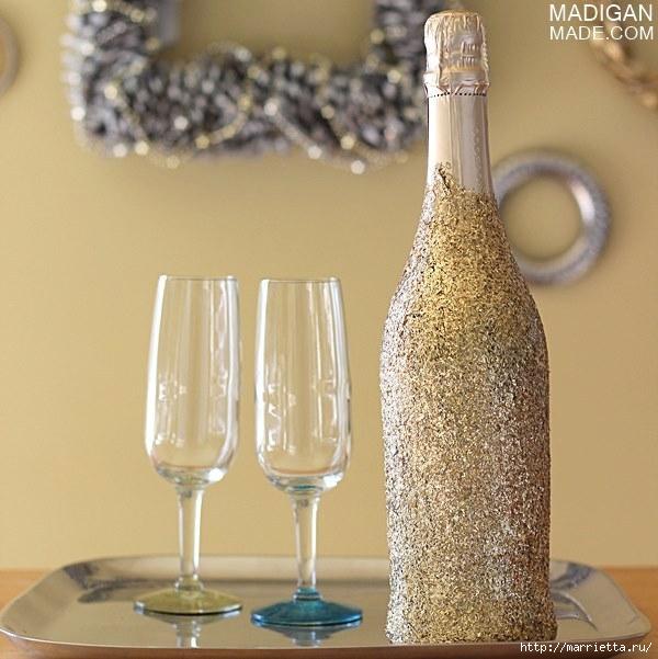 новогоднее украшение бутылок (4) (600x601, 194Kb)