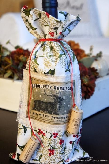рождественское украшение винных бутылок (1) (465x700, 239Kb)