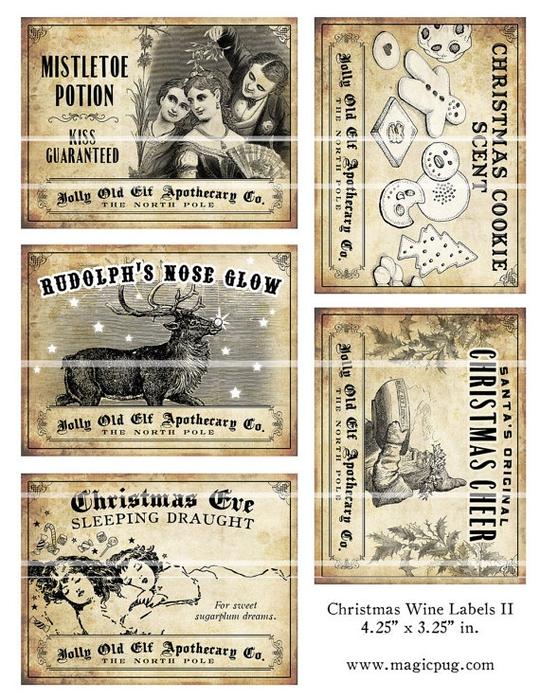 рождественское украшение винных бутылок (5) (540x700, 346Kb)
