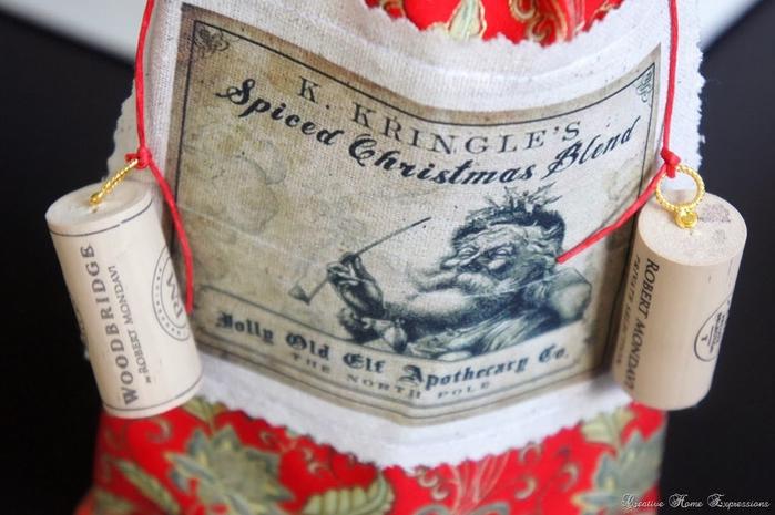 рождественское украшение винных бутылок (9) (700x465, 226Kb)