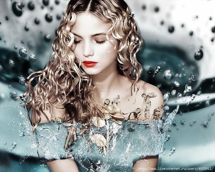 С на лице красивые картинки водяным знаком