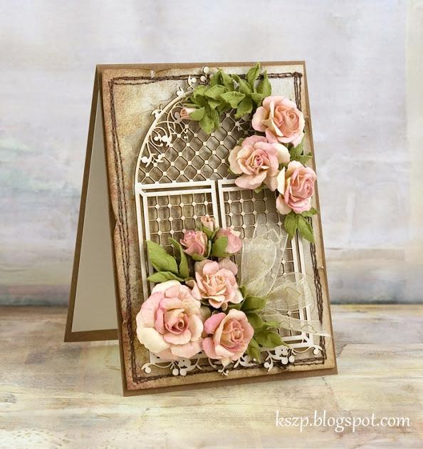 мк цветы для открытки скрапбукинг уже
