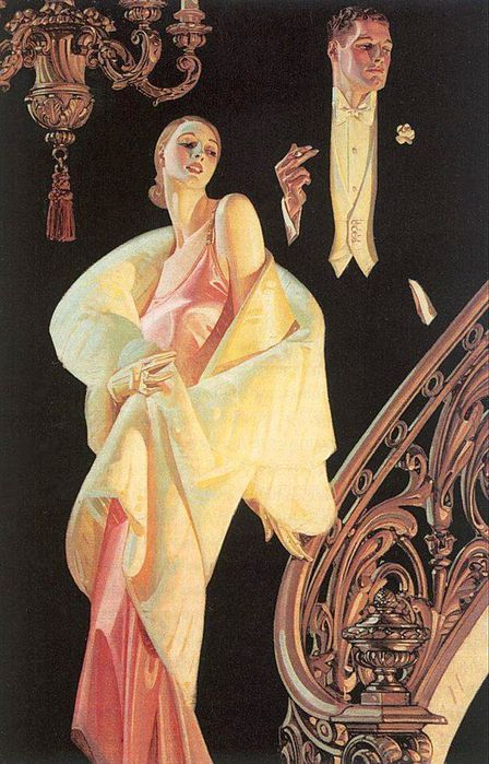 1J.C. Leyendecker.Couple Descending Staircase (448x700, 79Kb)