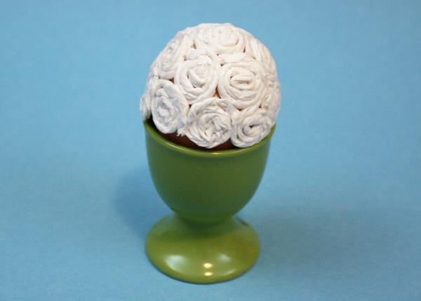 Пасхальное яйцо в виде овечки. Мастер класс
