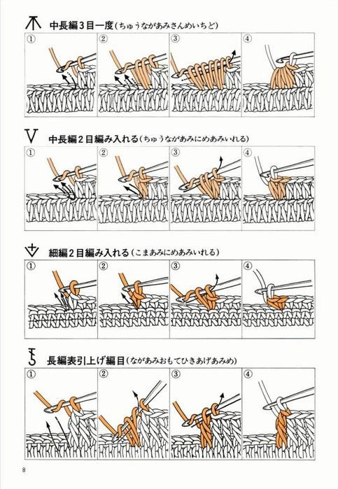 скачать картинки вязания с крючком пошагово