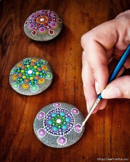 Ожившие камушки или роспись на камнях (3) (500x621, 219Kb)