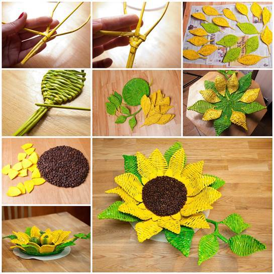 DIY-Paper-Woven-Sunflower-Tray-3 (545x545, 59Kb)