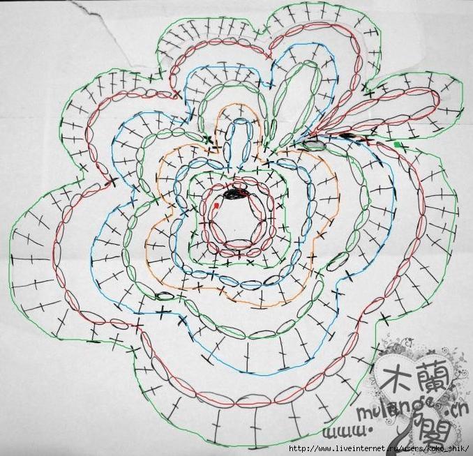 Вязание крючком розы схема видео фото 430