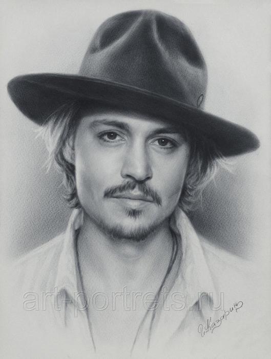 johnny_depp_portrait_by_drawing_portraits-d3efwm1 (529x700, 251Kb)