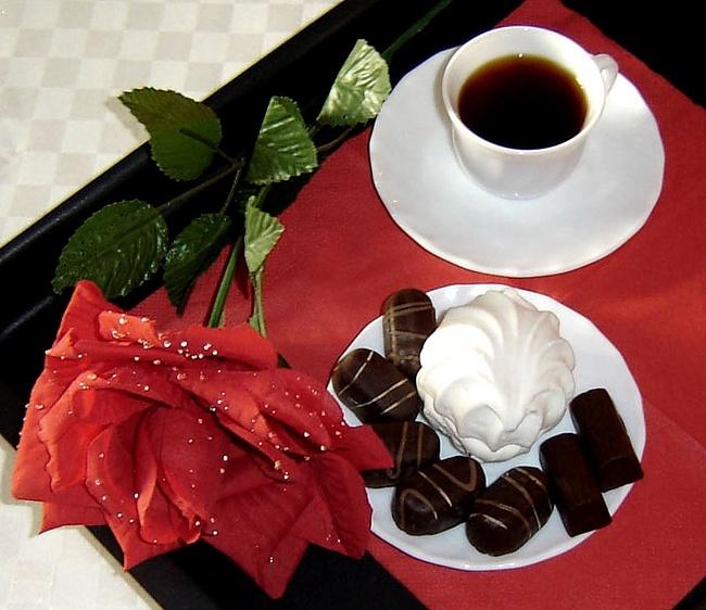 Для любимой, кофе с конфетами открытки