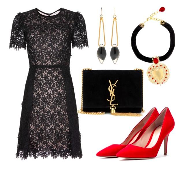 57 Best Black dress red heels images in 2019  Black dress