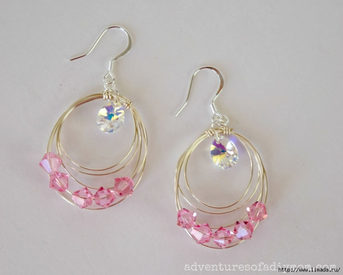 Pink Wire Circle Earrings 1 (700x560, 176Kb)