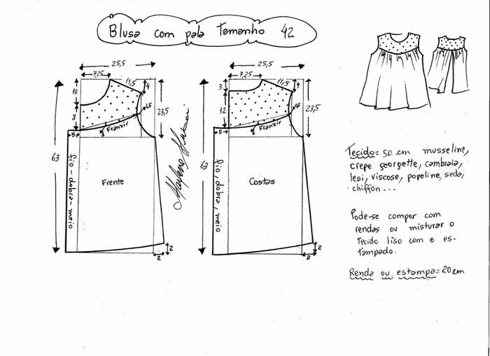 Блузка с кружевной открытой спинкой (4) (700x509, 143Kb)