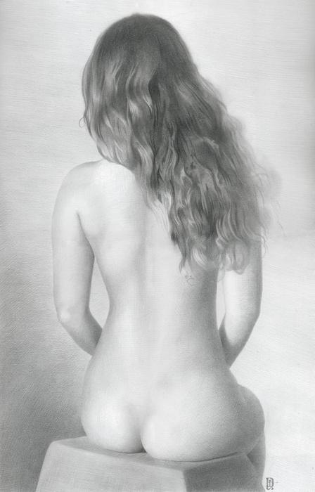 Рисунки карандашом голых молодых девушек выкладываем только