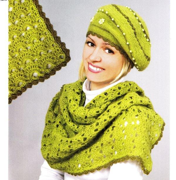 вязание крючком берет и шарф обсуждение на Liveinternet