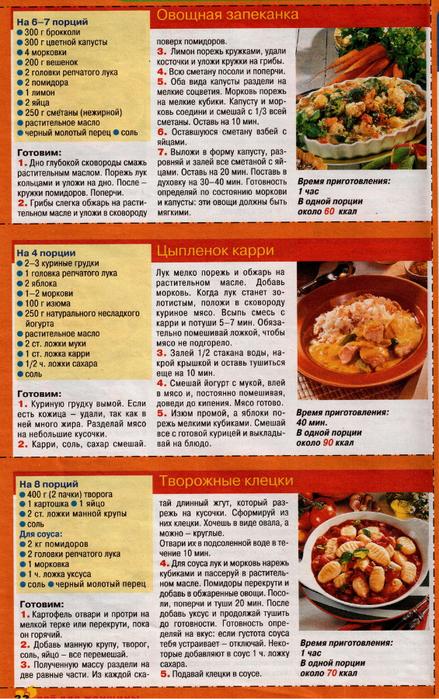 Простые рецепты низкокалорийной диеты