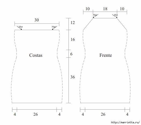 Вязаное крючком платье на бретельках. Схема (4) (594x526, 48Kb)
