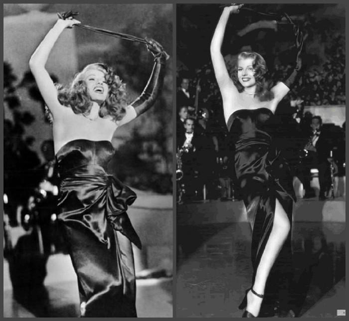 d94b6d96c32 И во многом этому способствовал роскошный наряд главной героини – длинное  черное атласное платье с открытыми плечами и высокие изящные перчатки.