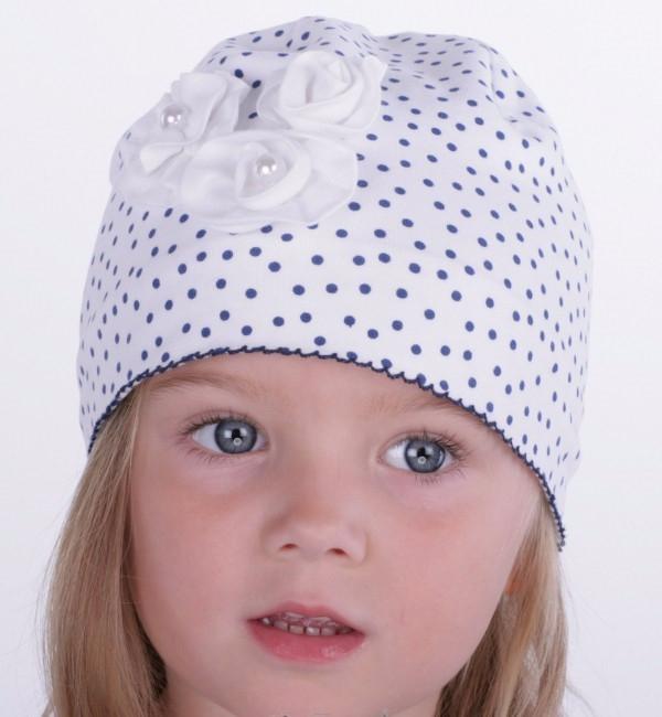 Летняя трикотажная шапочка для малышки (600x650, 230Kb)