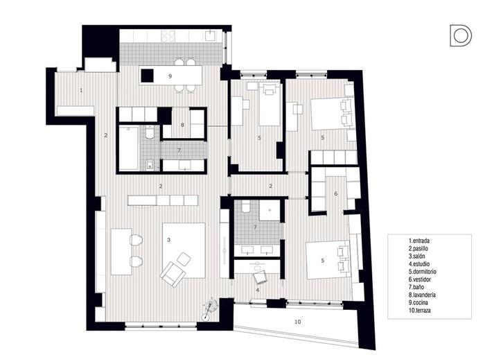 137119122 090417 1709 14 Перепланировка квартиры в Испании: принцип «коробка в коробке»