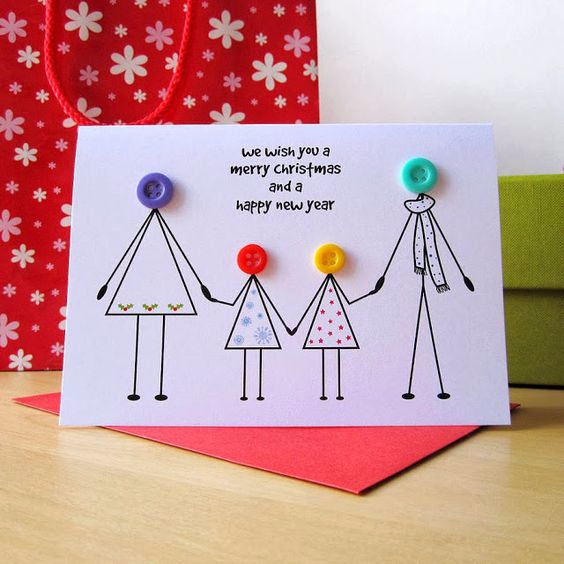 Днем рождения, как сделать открытку от всей семьи